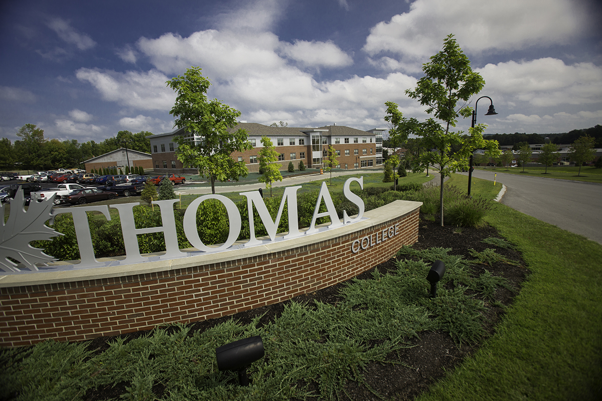 Thomas College Sign